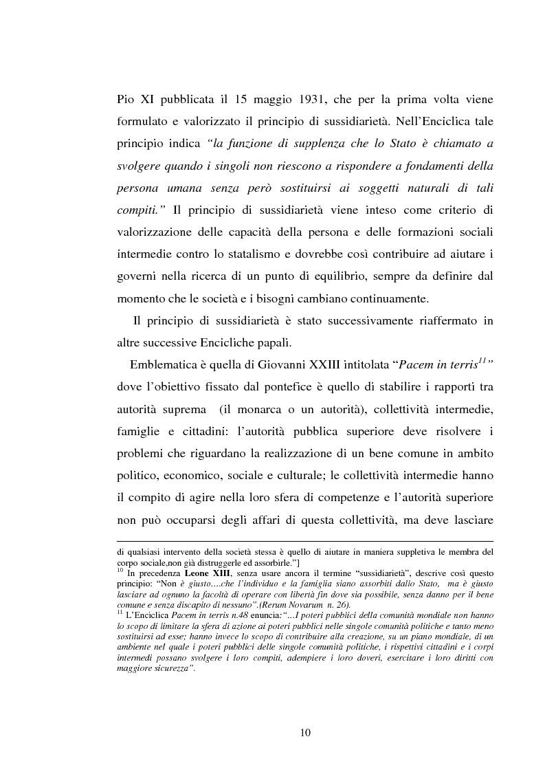 Anteprima della tesi: Il principio di sussidiarietà nel diritto comunitario, Pagina 10