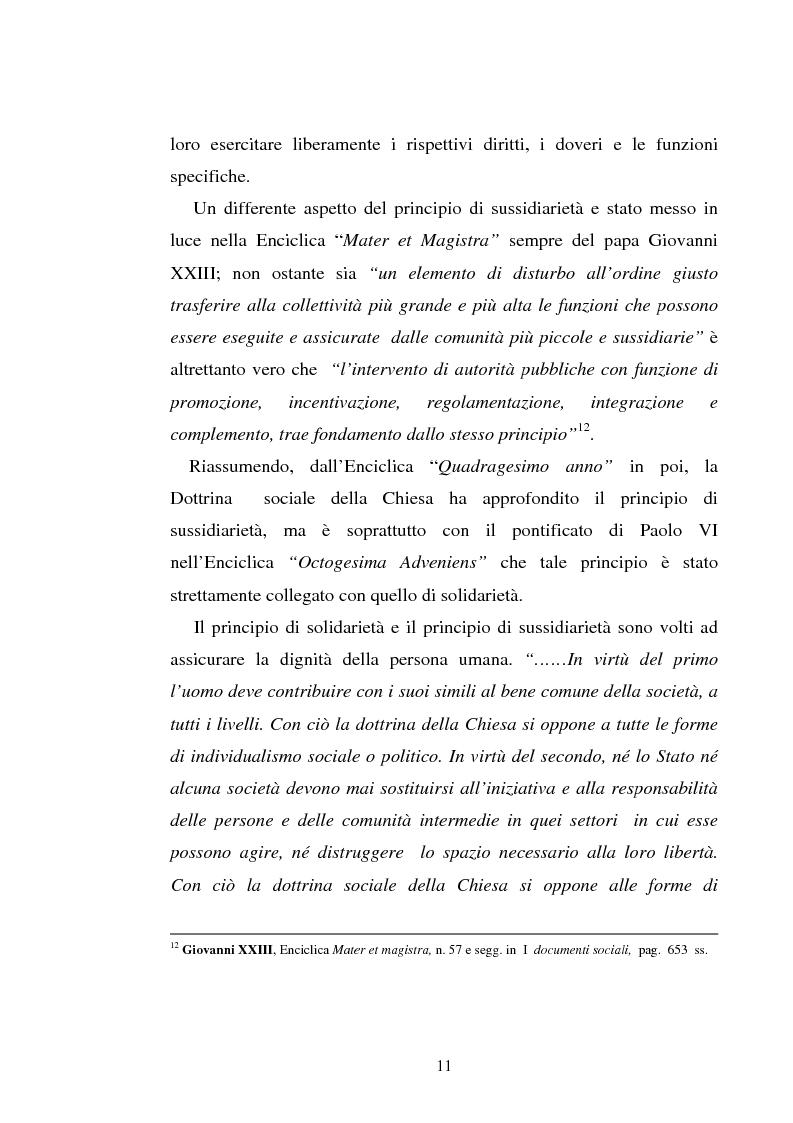 Anteprima della tesi: Il principio di sussidiarietà nel diritto comunitario, Pagina 11