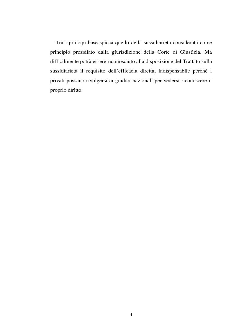 Anteprima della tesi: Il principio di sussidiarietà nel diritto comunitario, Pagina 4