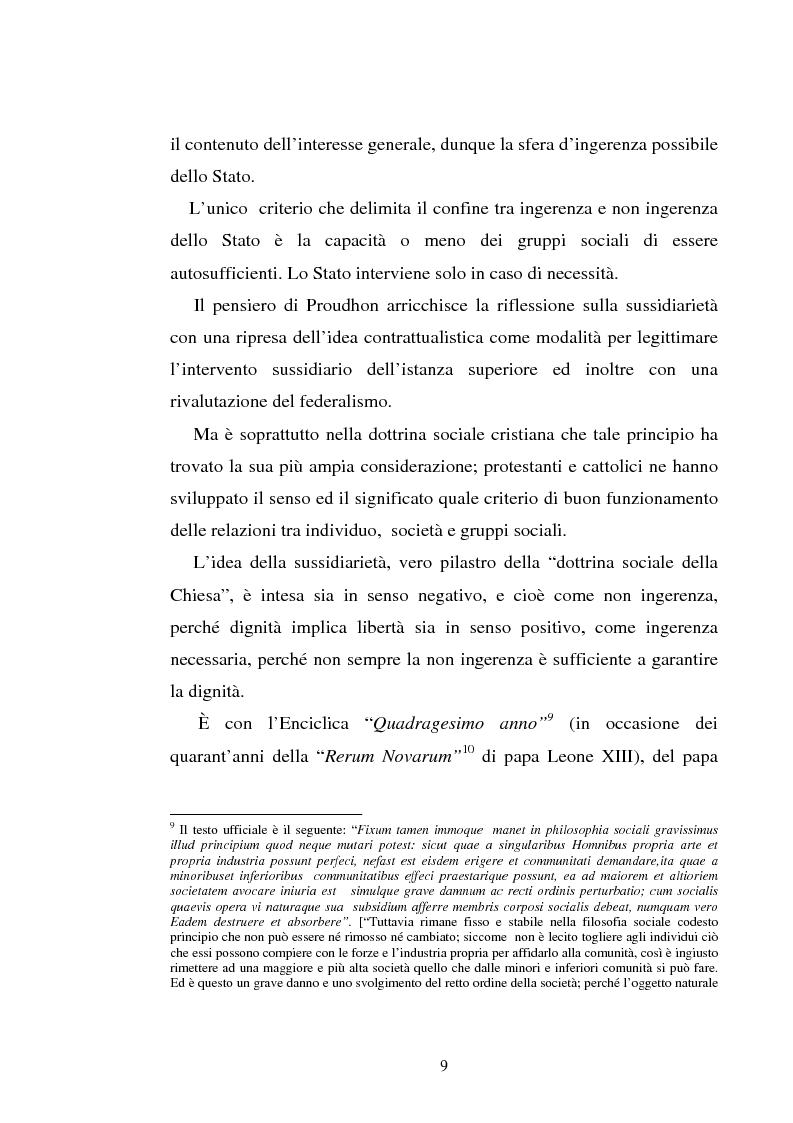 Anteprima della tesi: Il principio di sussidiarietà nel diritto comunitario, Pagina 9
