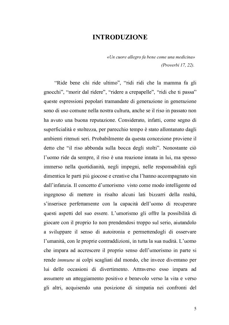 Anteprima della tesi: Ridere per far bene a se stessi o per far ridere gli altri? L'umorismo nella clownterapia, Pagina 1