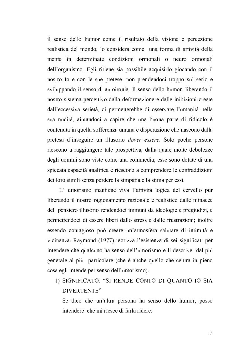 Anteprima della tesi: Ridere per far bene a se stessi o per far ridere gli altri? L'umorismo nella clownterapia, Pagina 11