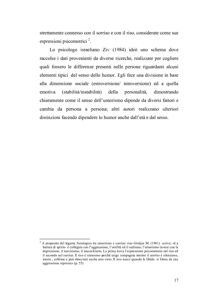 Anteprima della tesi: Ridere per far bene a se stessi o per far ridere gli altri? L'umorismo nella clownterapia, Pagina 13