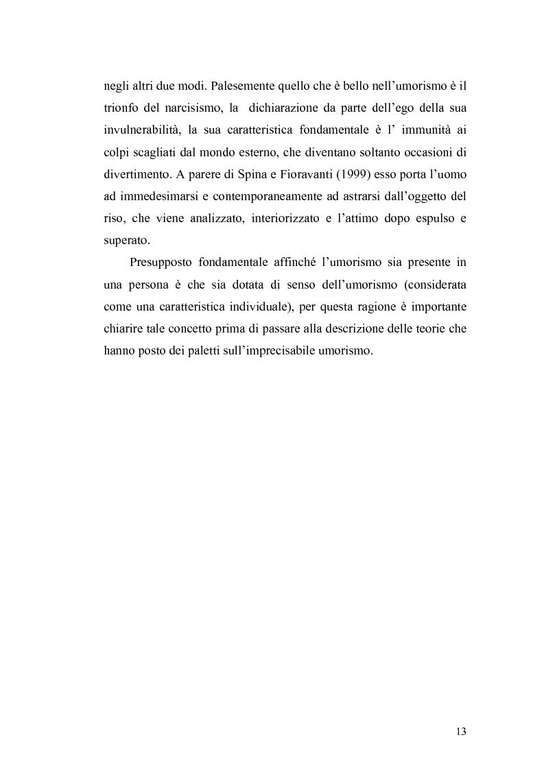Anteprima della tesi: Ridere per far bene a se stessi o per far ridere gli altri? L'umorismo nella clownterapia, Pagina 9