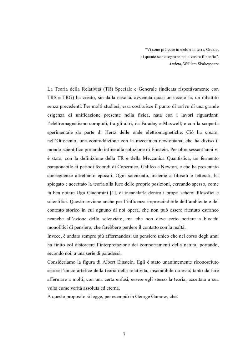 Anteprima della tesi: Il Principio di Relatività, Pagina 2