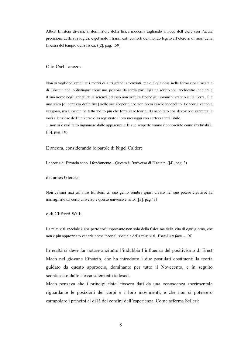Anteprima della tesi: Il Principio di Relatività, Pagina 3