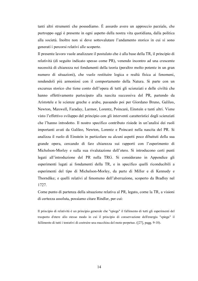 Anteprima della tesi: Il Principio di Relatività, Pagina 9