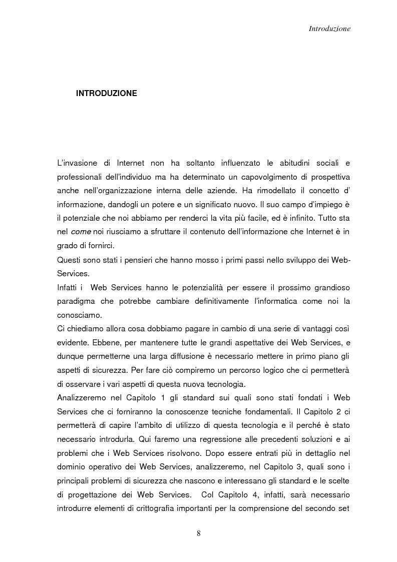 Anteprima della tesi: Sicurezza e Web Services, Pagina 1