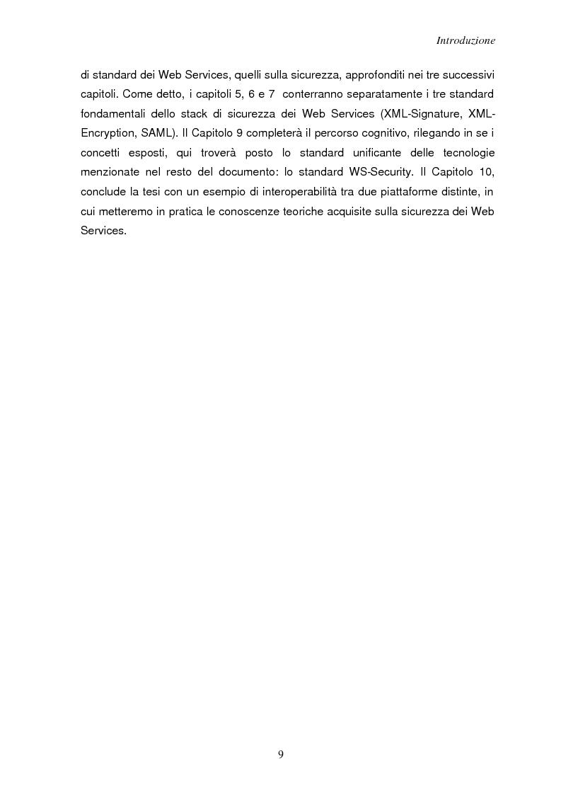 Anteprima della tesi: Sicurezza e Web Services, Pagina 2