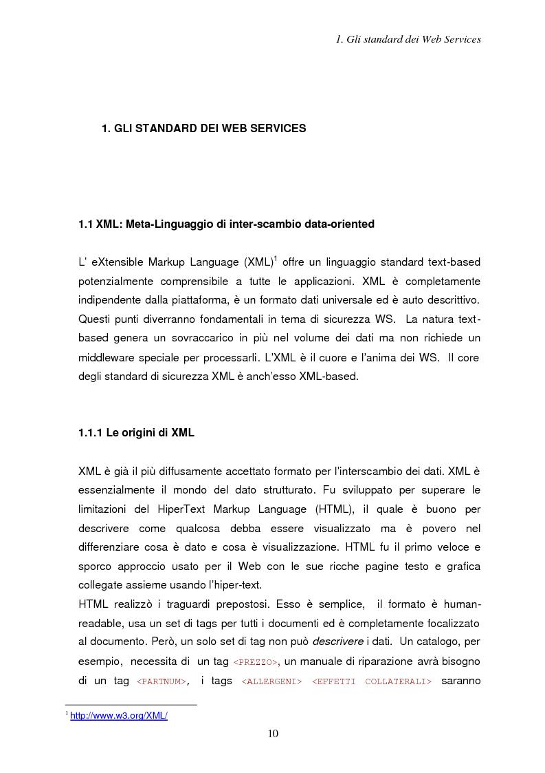 Anteprima della tesi: Sicurezza e Web Services, Pagina 3