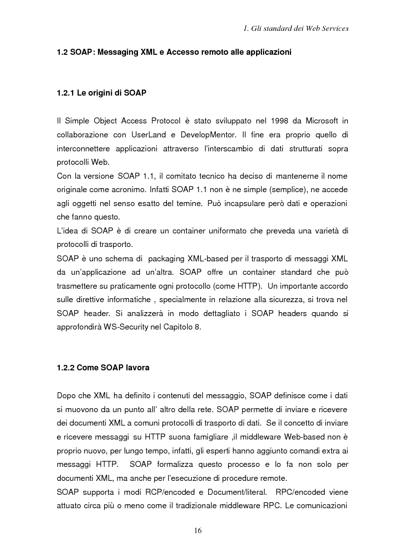 Anteprima della tesi: Sicurezza e Web Services, Pagina 9