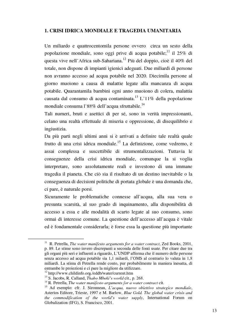 Anteprima della tesi: Riforme e conomiche e servizi sociali nel sudafrica post-apartheid: l'accesso all'acqua, Pagina 11