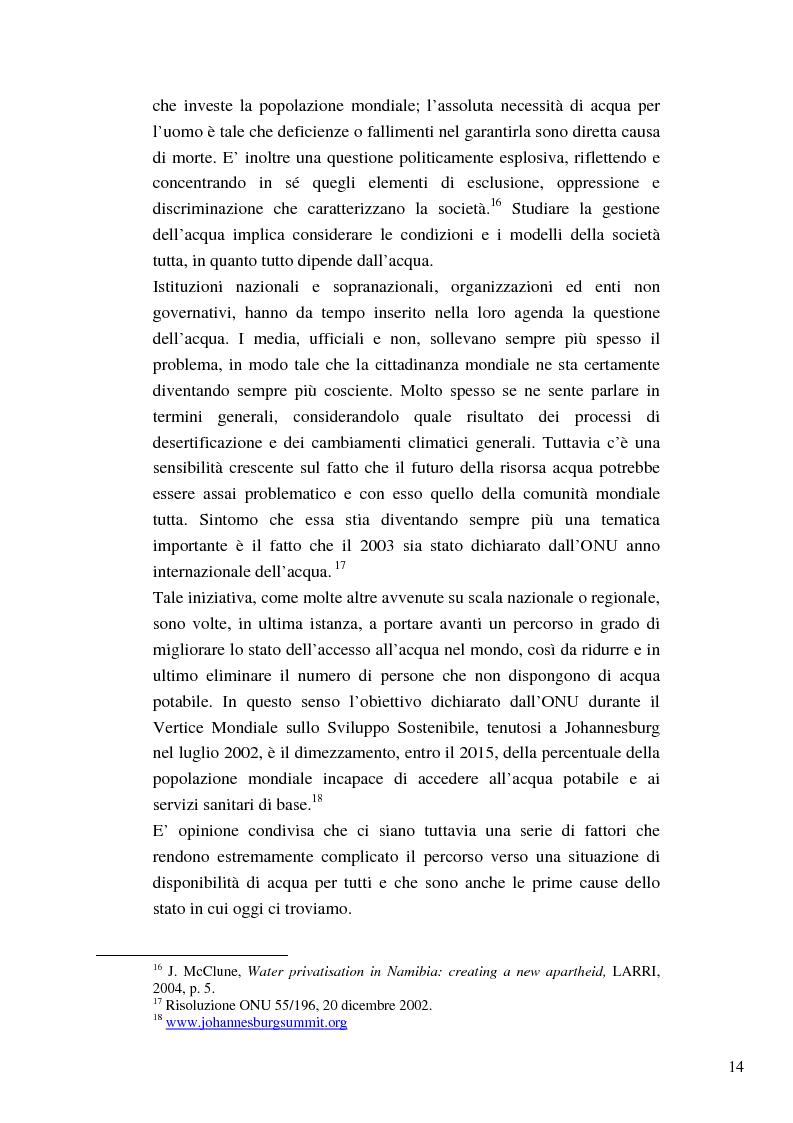 Anteprima della tesi: Riforme e conomiche e servizi sociali nel sudafrica post-apartheid: l'accesso all'acqua, Pagina 12