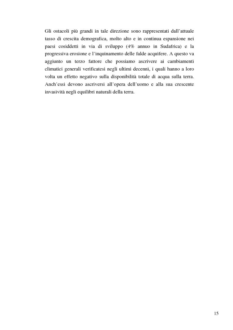 Anteprima della tesi: Riforme e conomiche e servizi sociali nel sudafrica post-apartheid: l'accesso all'acqua, Pagina 13