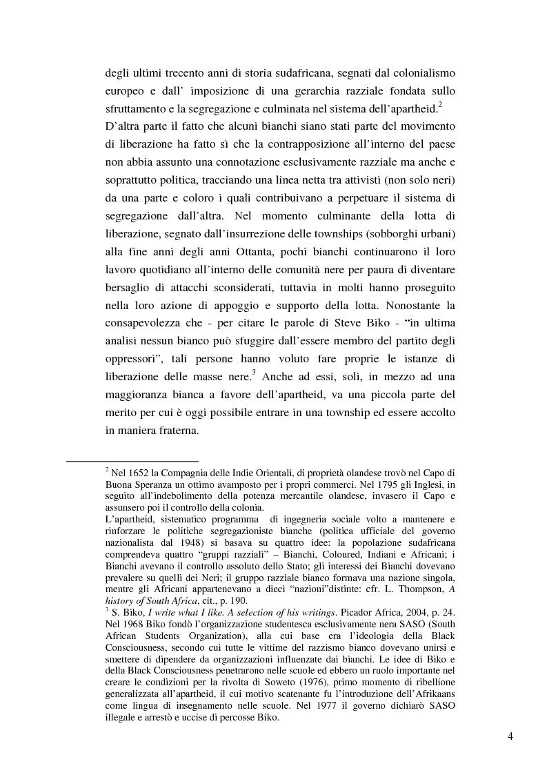 Anteprima della tesi: Riforme e conomiche e servizi sociali nel sudafrica post-apartheid: l'accesso all'acqua, Pagina 2