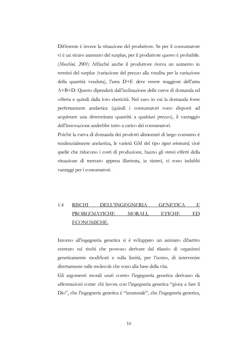 Anteprima della tesi: Atteggiamento dei consumatori verso gli alimenti geneticamente modificati: applicazione del choice modelling nella città di Bari, Pagina 10