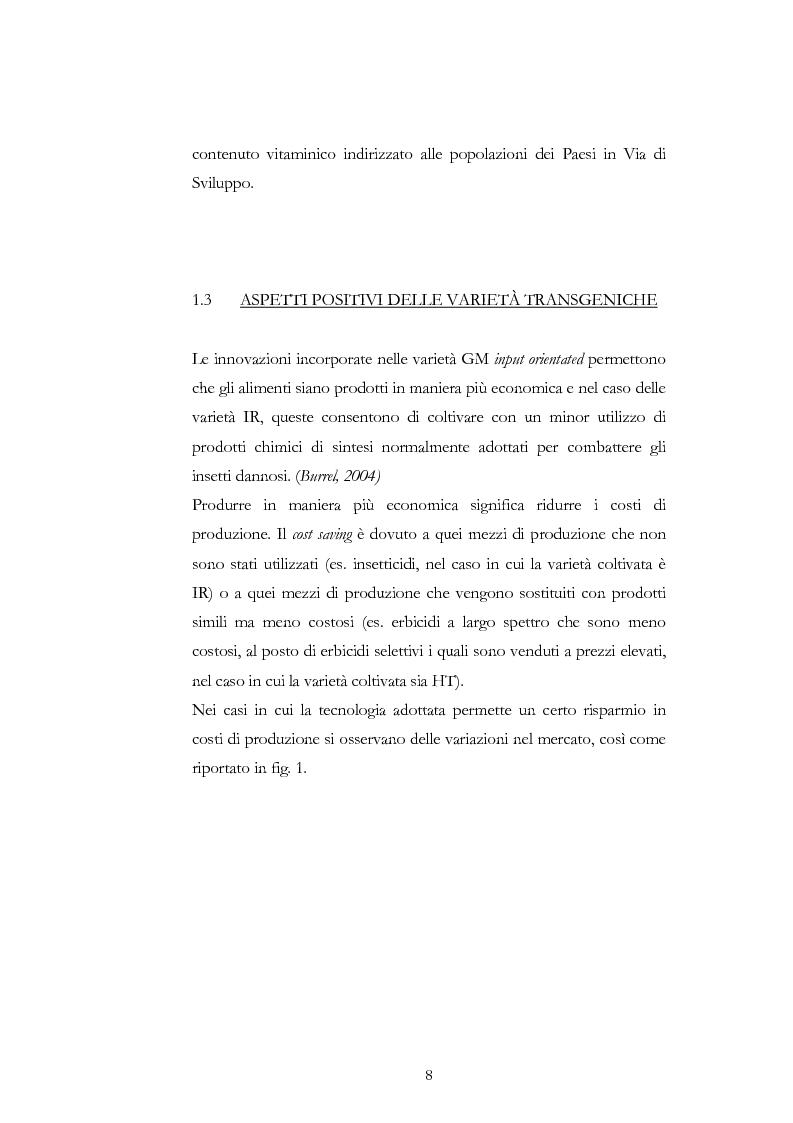 Anteprima della tesi: Atteggiamento dei consumatori verso gli alimenti geneticamente modificati: applicazione del choice modelling nella città di Bari, Pagina 8