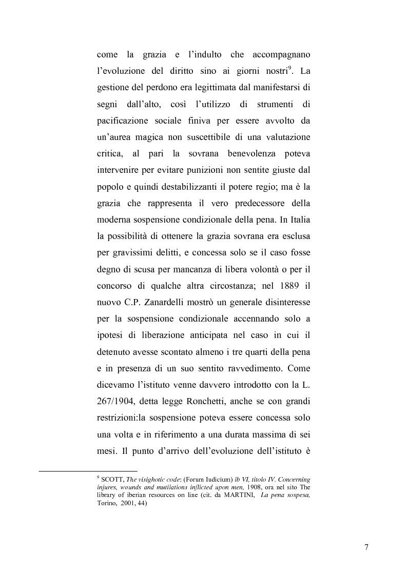 Anteprima della tesi: La sospensione condizionale della pena, Pagina 3