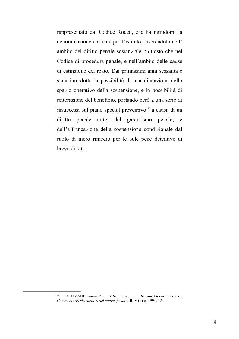 Anteprima della tesi: La sospensione condizionale della pena, Pagina 4