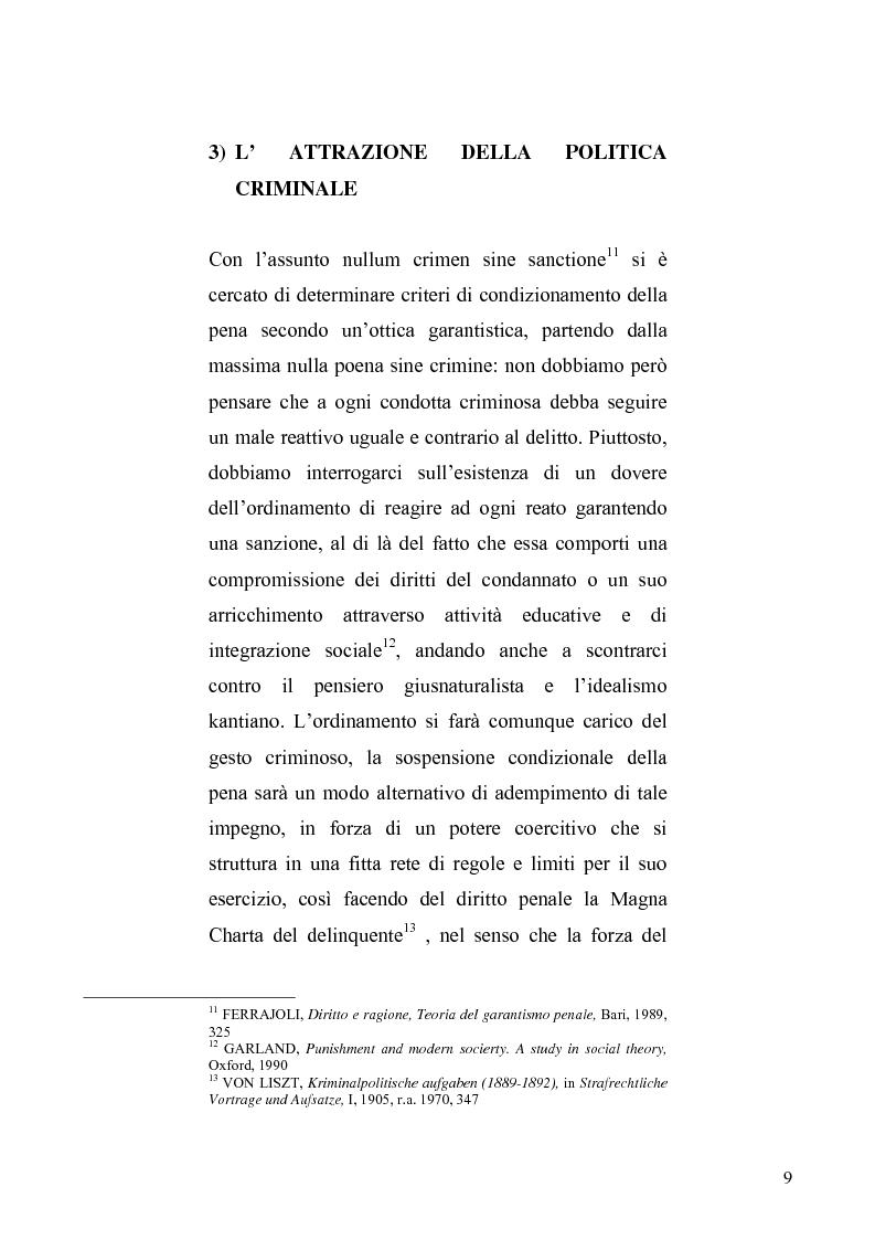 Anteprima della tesi: La sospensione condizionale della pena, Pagina 5