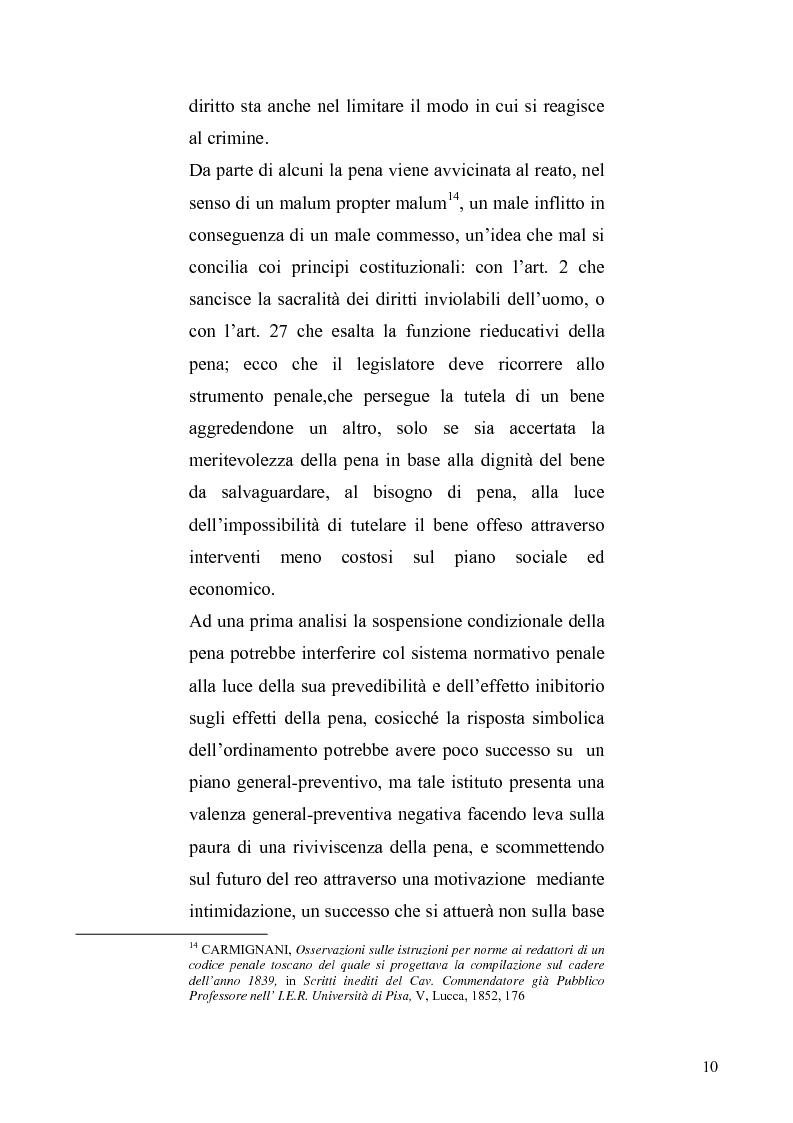 Anteprima della tesi: La sospensione condizionale della pena, Pagina 6