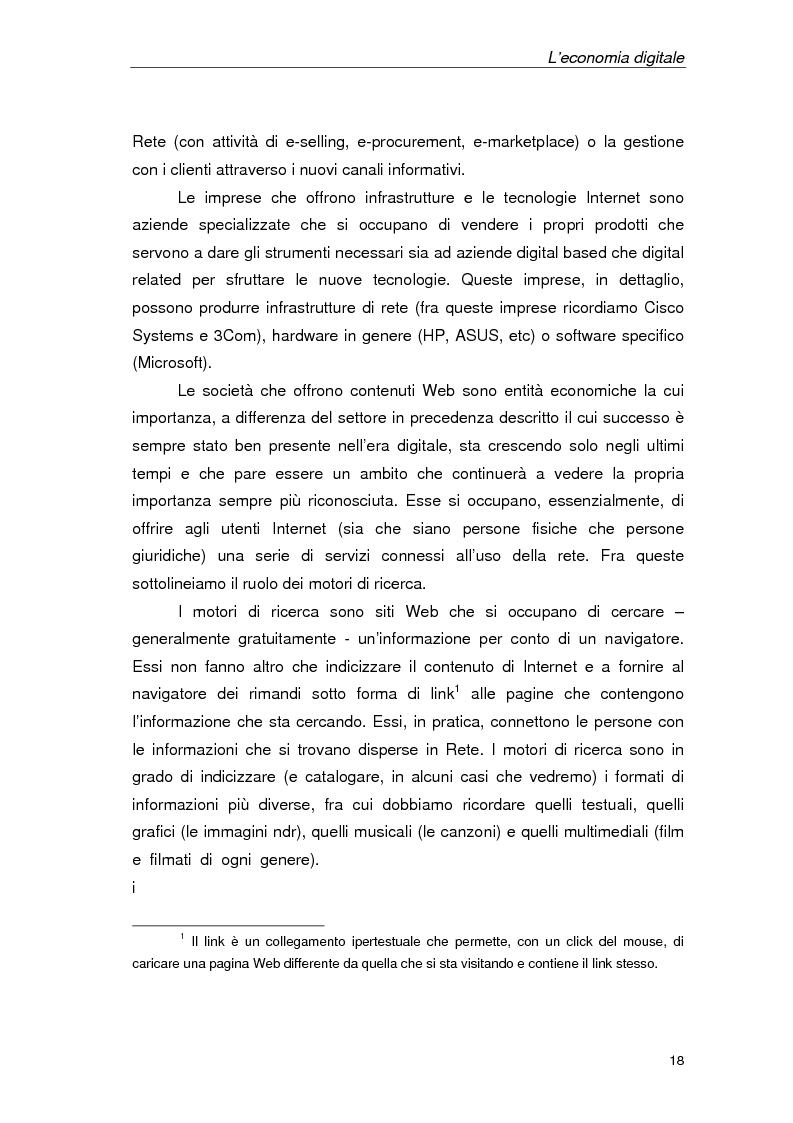 Anteprima della tesi: Un'azienda della Net Economy: il caso Google, Pagina 15