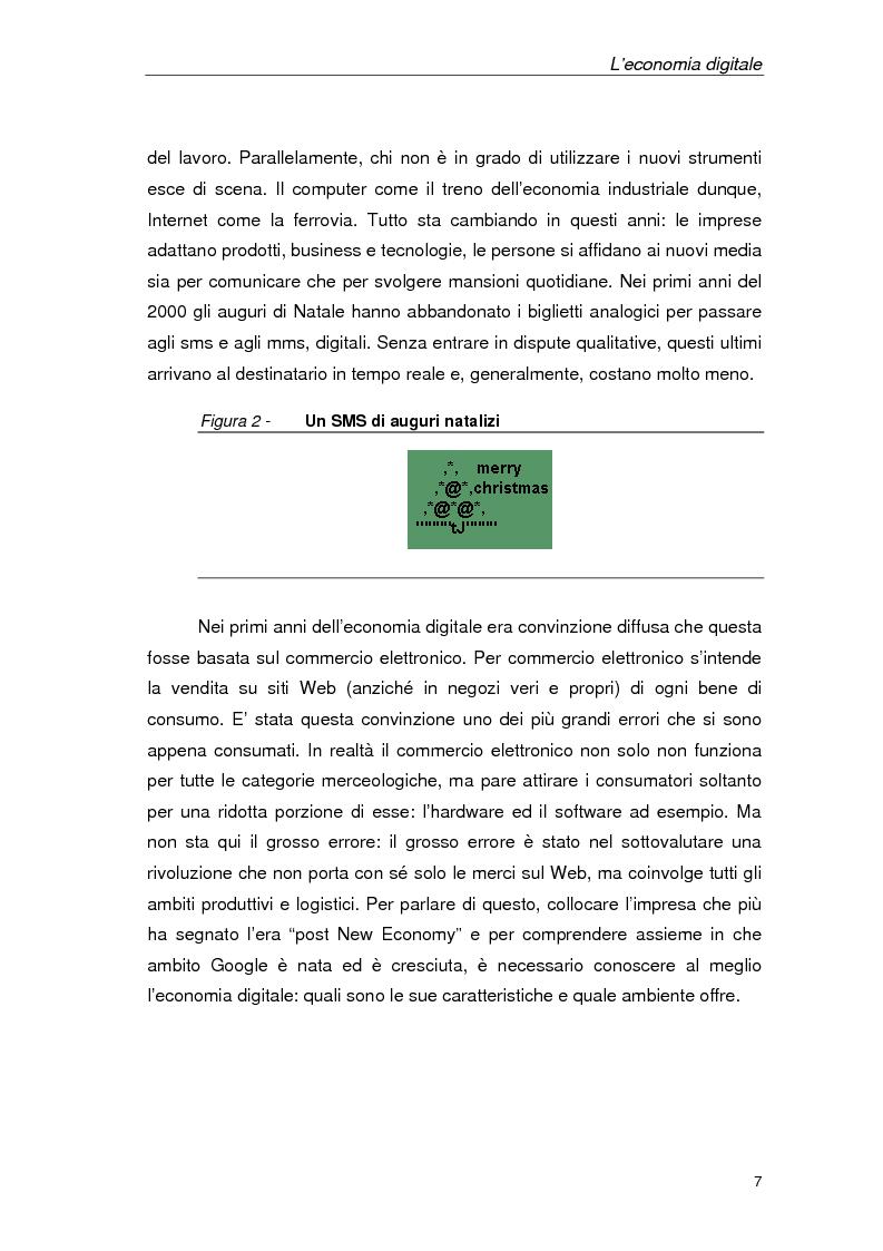 Anteprima della tesi: Un'azienda della Net Economy: il caso Google, Pagina 4