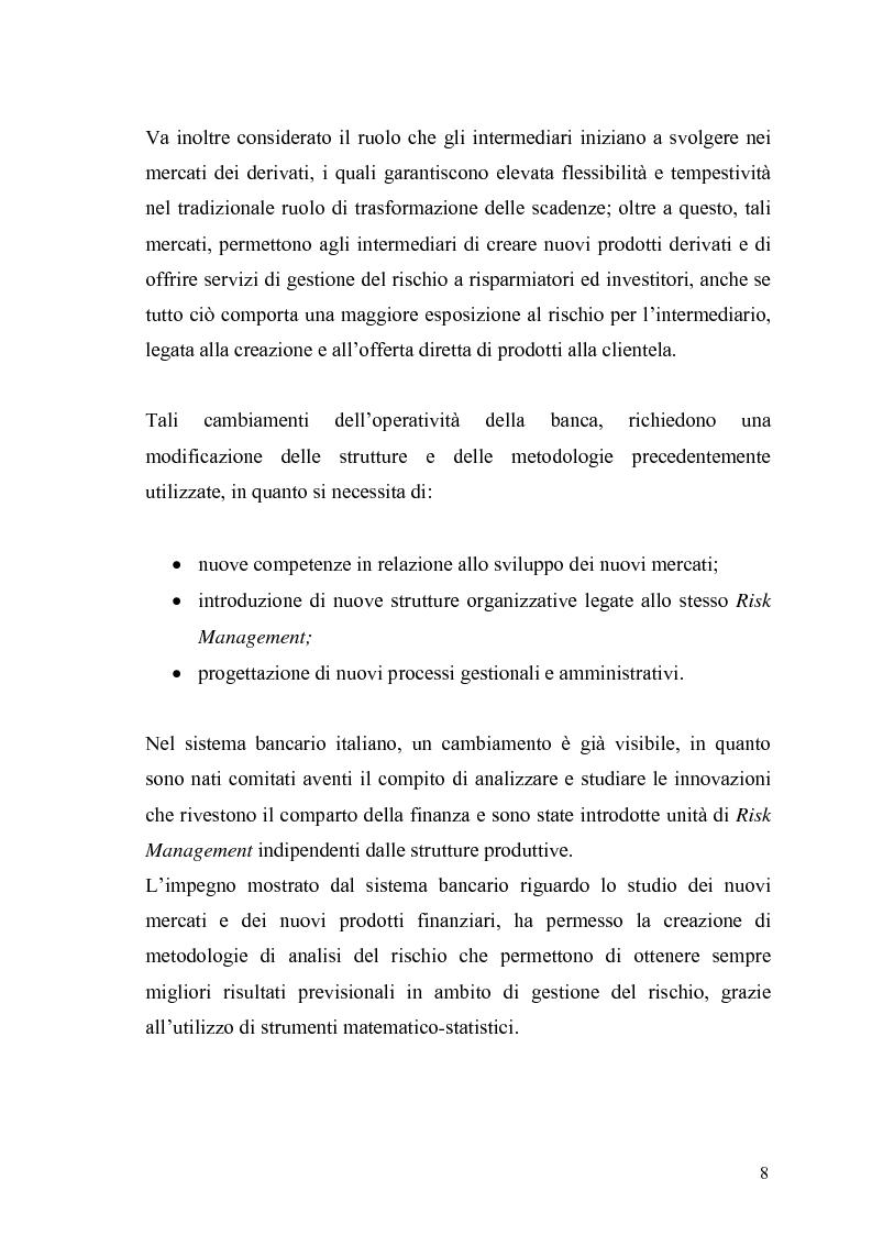 Anteprima della tesi: Evidenza empirica sul Value at Risk, Pagina 5