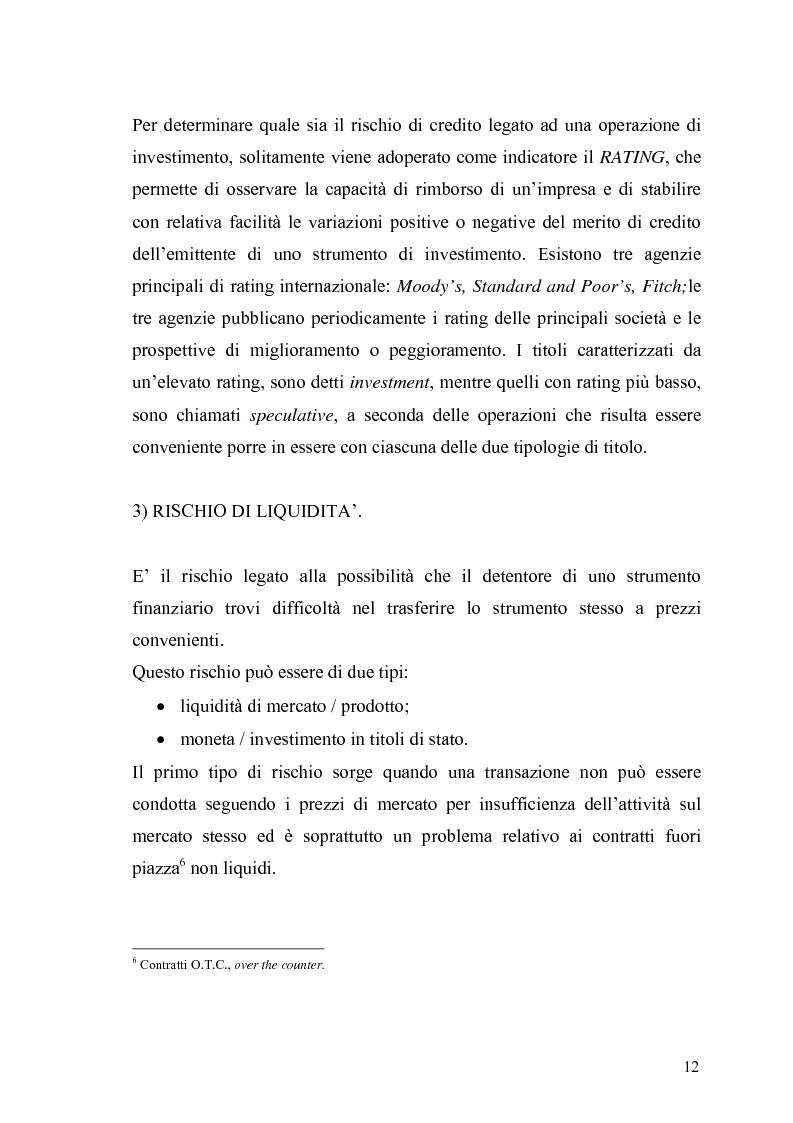 Anteprima della tesi: Evidenza empirica sul Value at Risk, Pagina 9
