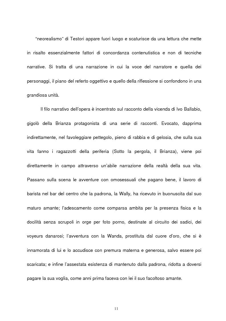 Anteprima della tesi: Le figure femminili nel ''ciclo dei segreti di Milano'' di Giovanni Testori, Pagina 10