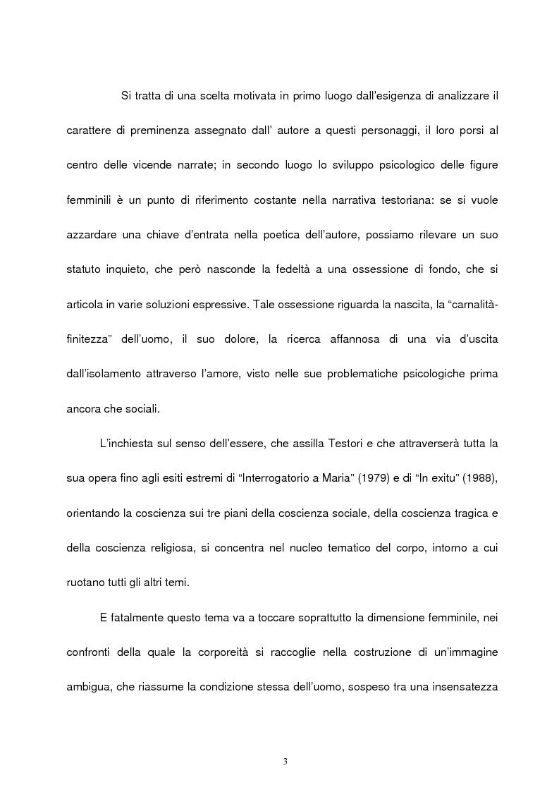 Anteprima della tesi: Le figure femminili nel ''ciclo dei segreti di Milano'' di Giovanni Testori, Pagina 2