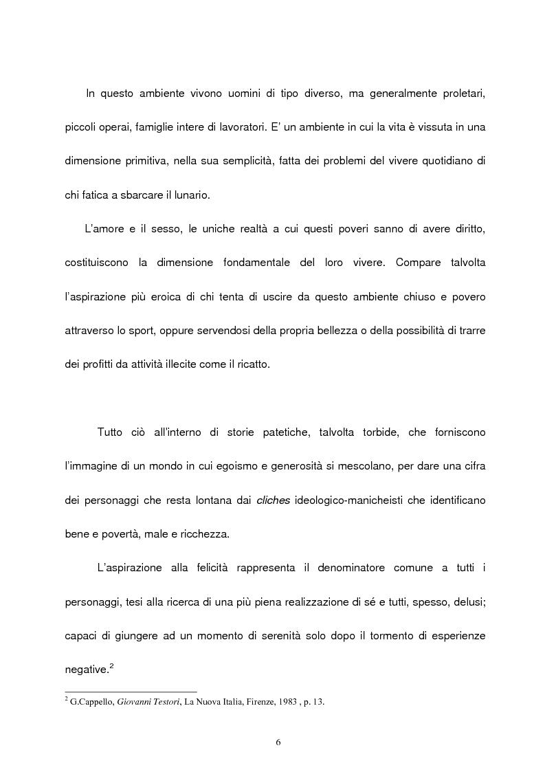 Anteprima della tesi: Le figure femminili nel ''ciclo dei segreti di Milano'' di Giovanni Testori, Pagina 5