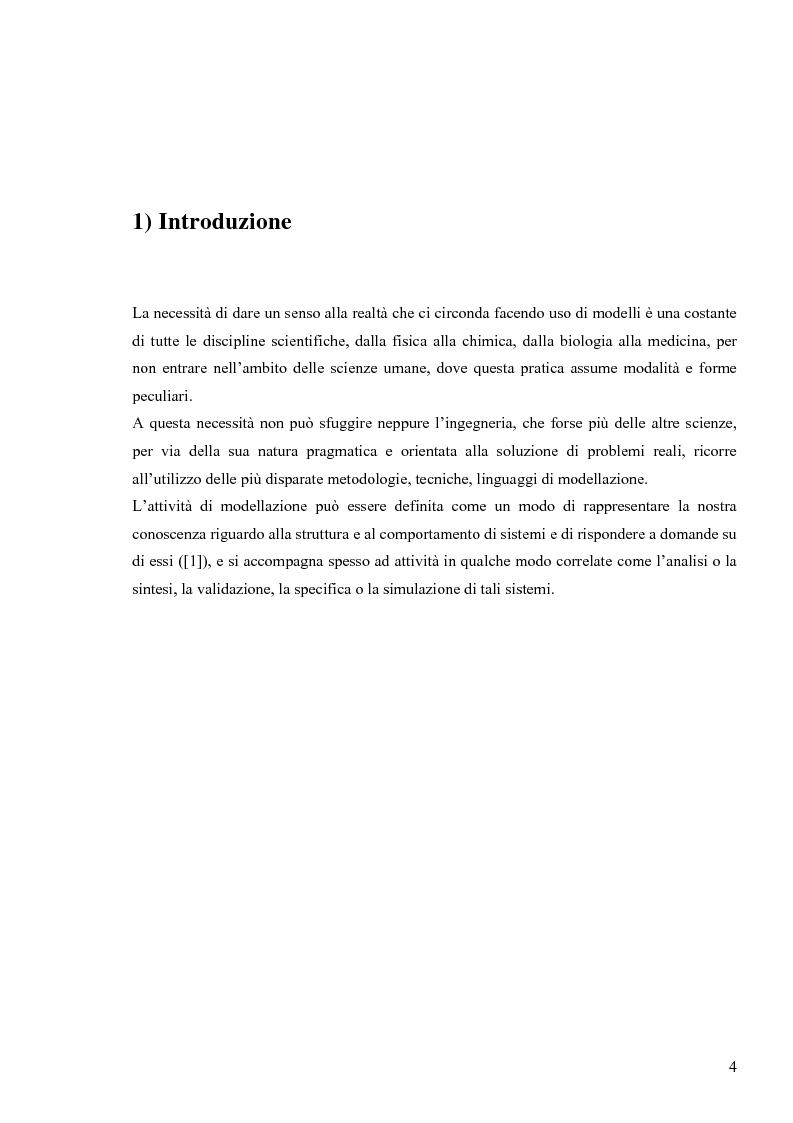 Anteprima della tesi: Tecniche basate su paradigma ad oggetti per l'analisi di sistemi complessi, Pagina 1