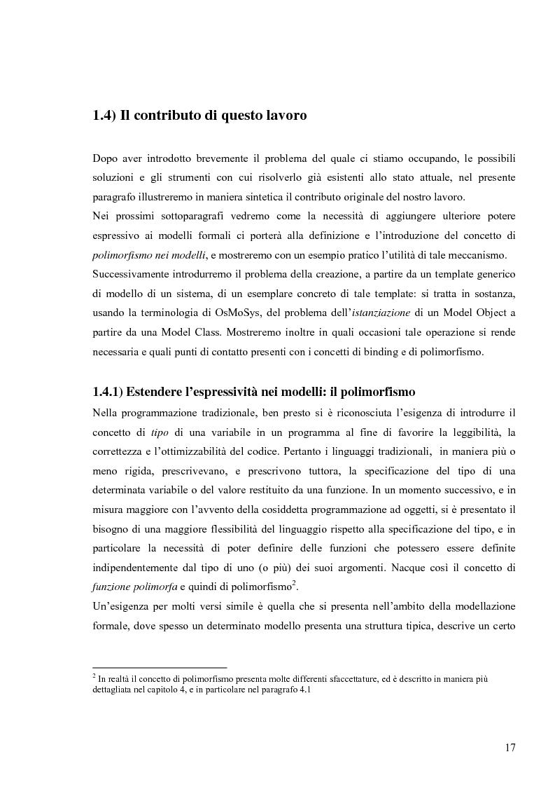 Anteprima della tesi: Tecniche basate su paradigma ad oggetti per l'analisi di sistemi complessi, Pagina 14