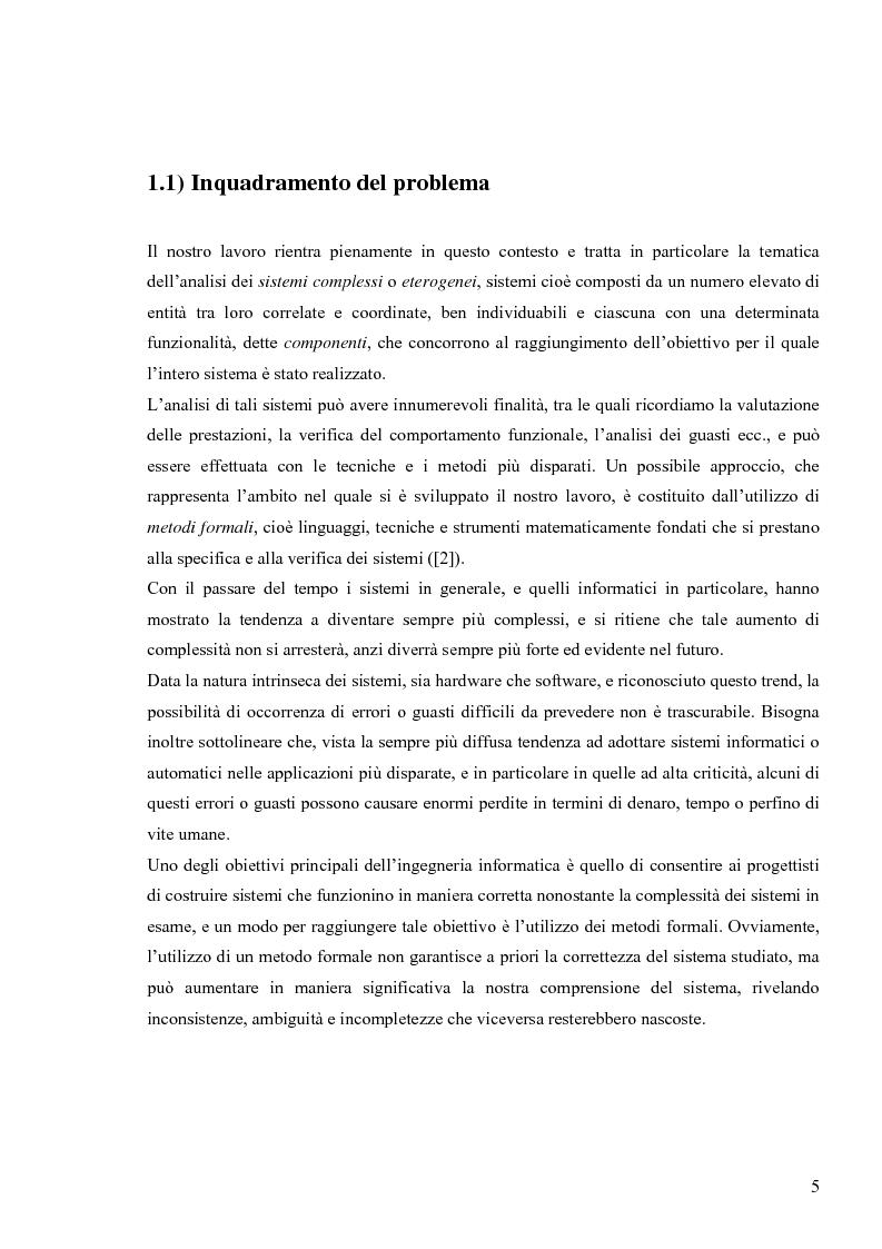 Anteprima della tesi: Tecniche basate su paradigma ad oggetti per l'analisi di sistemi complessi, Pagina 2
