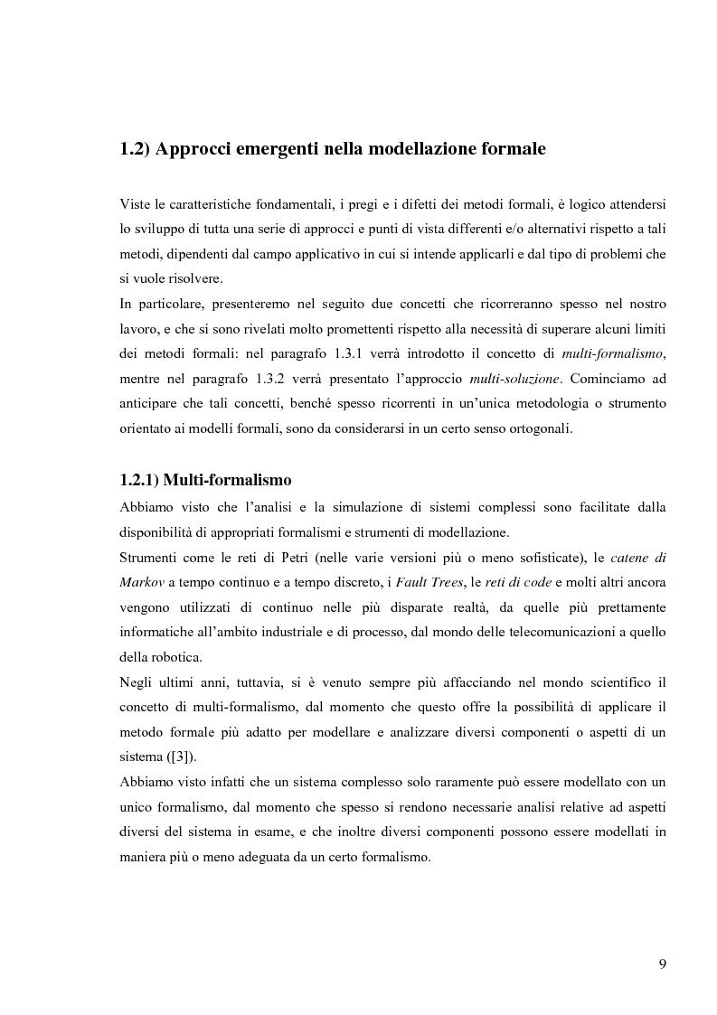 Anteprima della tesi: Tecniche basate su paradigma ad oggetti per l'analisi di sistemi complessi, Pagina 6