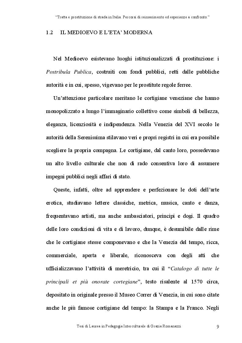 Anteprima della tesi: Tratta e prostituzione di strada in Italia. Percorsi di reinserimento ed esperienze a confronto., Pagina 10