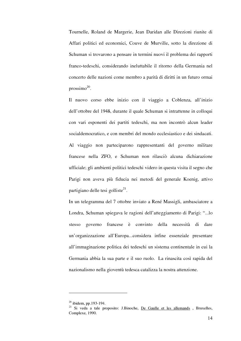 Anteprima della tesi: La diplomazia francese e la questione tedesca dalla nascita della Repubblica Federale agli accordi di Bonn e di Parigi 1949-1952, Pagina 13