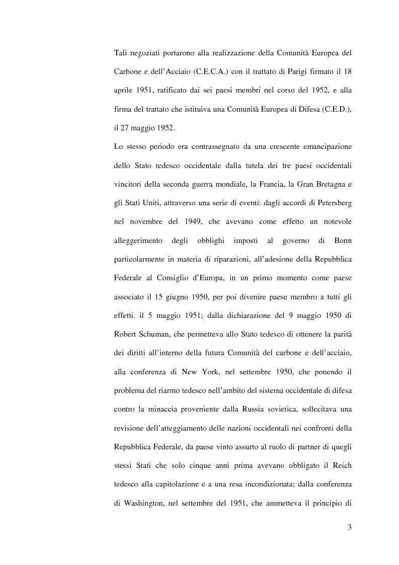 Anteprima della tesi: La diplomazia francese e la questione tedesca dalla nascita della Repubblica Federale agli accordi di Bonn e di Parigi 1949-1952, Pagina 2