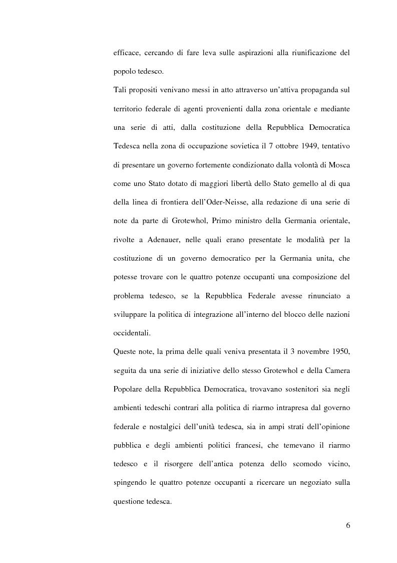Anteprima della tesi: La diplomazia francese e la questione tedesca dalla nascita della Repubblica Federale agli accordi di Bonn e di Parigi 1949-1952, Pagina 5