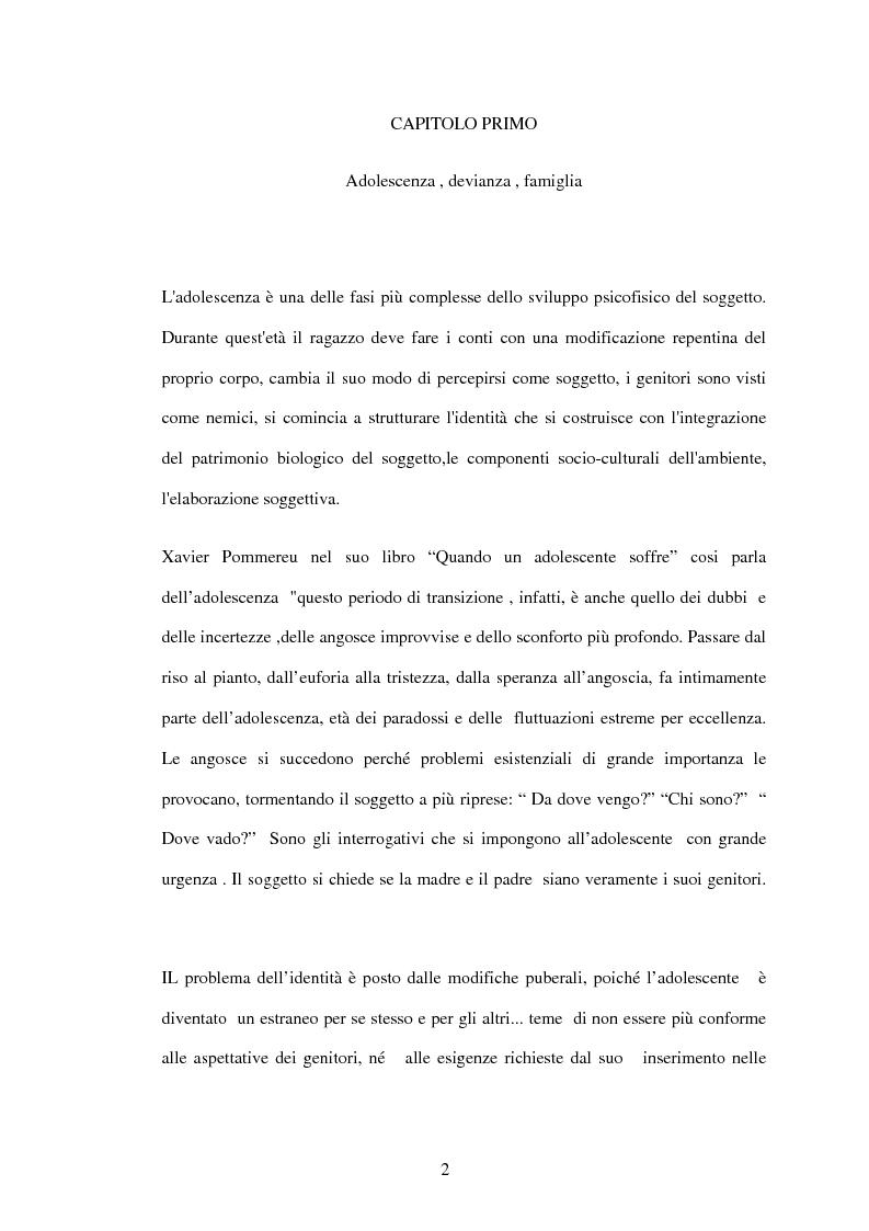 Anteprima della tesi: Dinamiche familiari patogene nell'adolescenza, Pagina 2