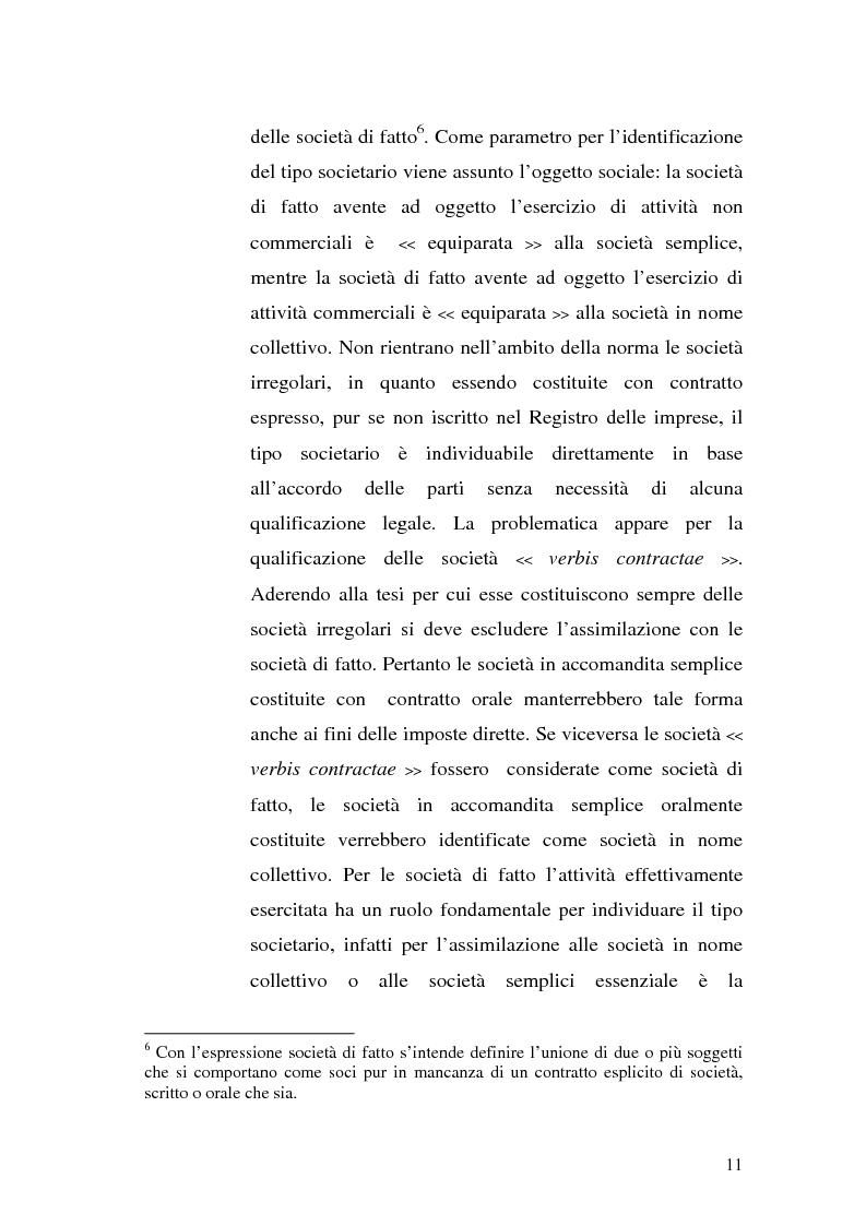 Anteprima della tesi: Il principio di trasparenza per le società di capitali ora introdotto alla luce del confronto con quello relativo alle società di persone, Pagina 11