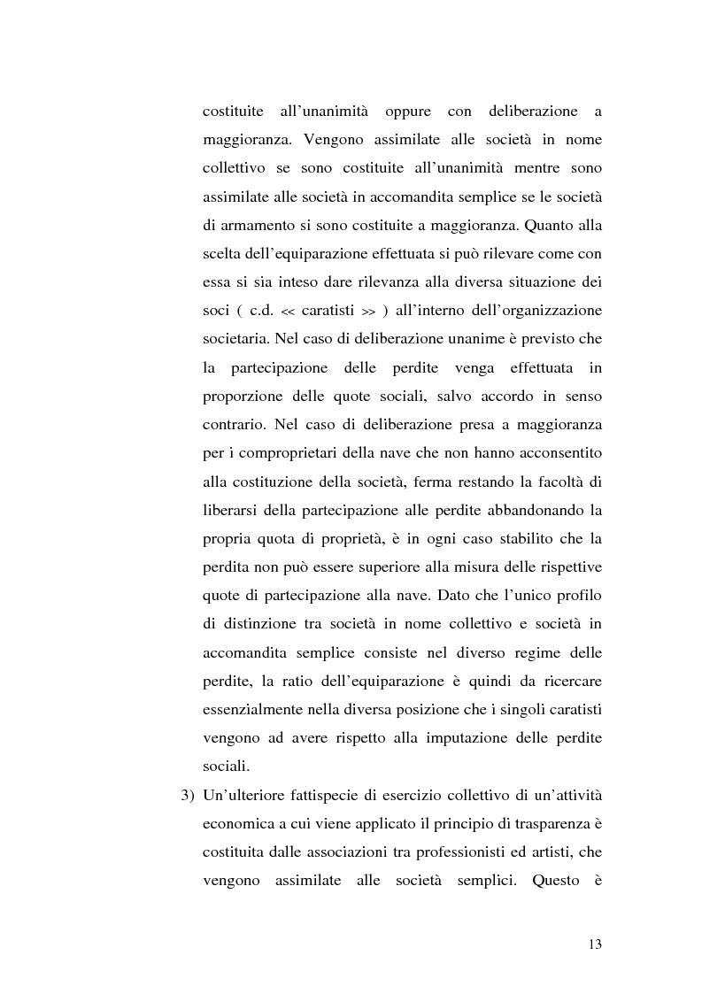 Anteprima della tesi: Il principio di trasparenza per le società di capitali ora introdotto alla luce del confronto con quello relativo alle società di persone, Pagina 13