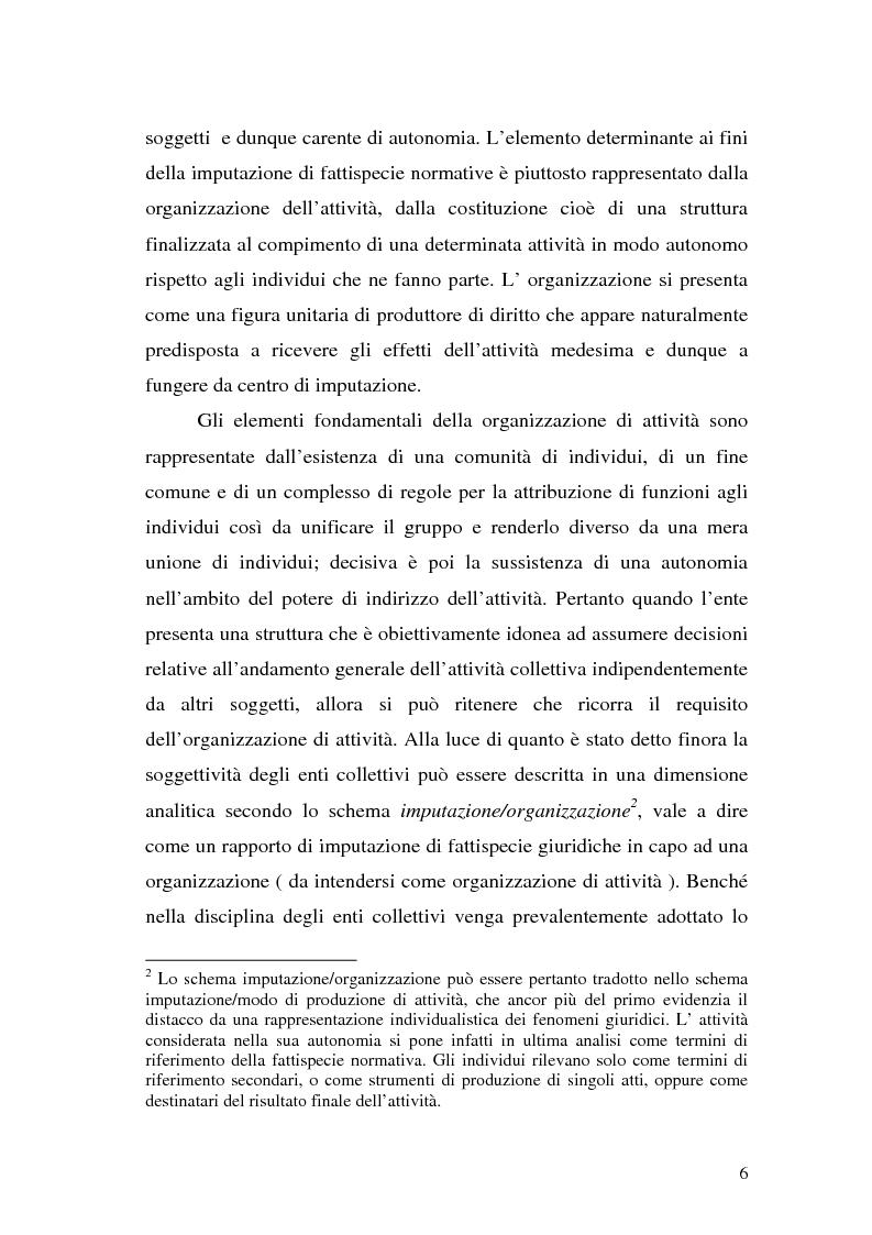 Anteprima della tesi: Il principio di trasparenza per le società di capitali ora introdotto alla luce del confronto con quello relativo alle società di persone, Pagina 6