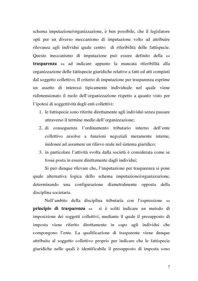 Anteprima della tesi: Il principio di trasparenza per le società di capitali ora introdotto alla luce del confronto con quello relativo alle società di persone, Pagina 7