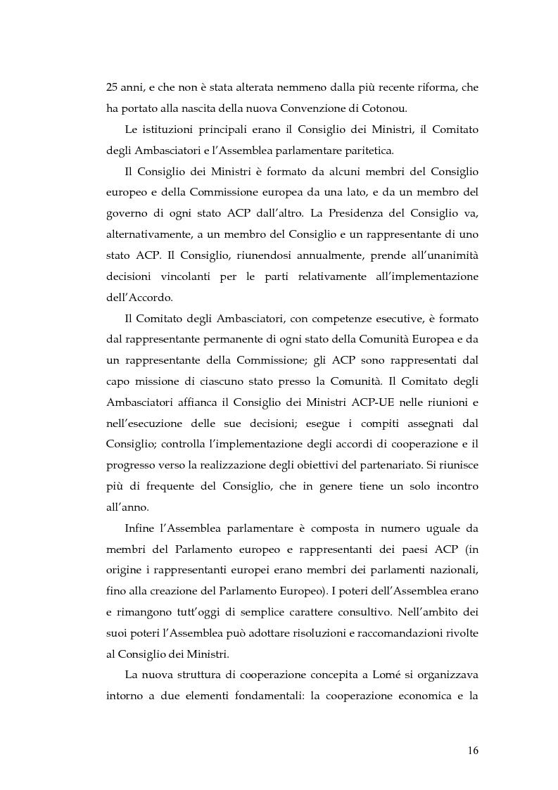 Anteprima della tesi: L'evoluzione della cooperazione giuridica UE-ACP da Lomé a Cotonou, Pagina 12