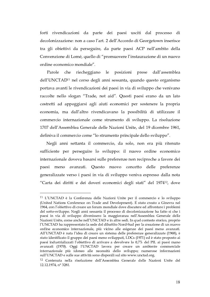 Anteprima della tesi: L'evoluzione della cooperazione giuridica UE-ACP da Lomé a Cotonou, Pagina 14