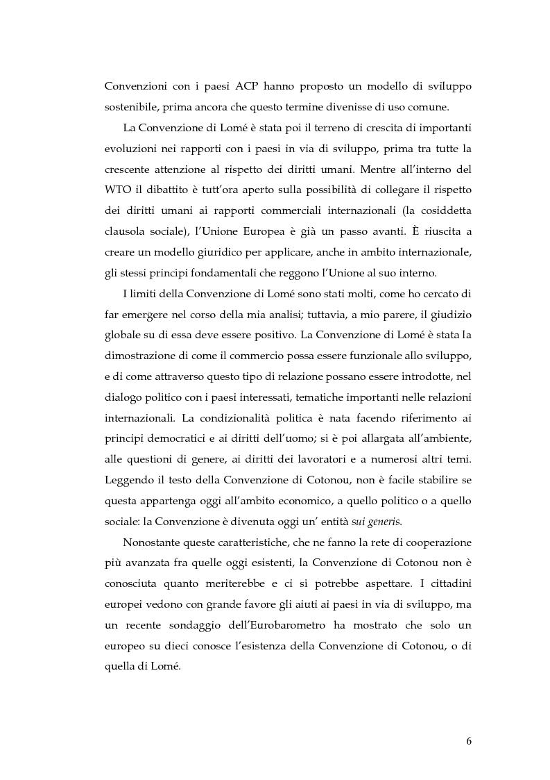 Anteprima della tesi: L'evoluzione della cooperazione giuridica UE-ACP da Lomé a Cotonou, Pagina 2