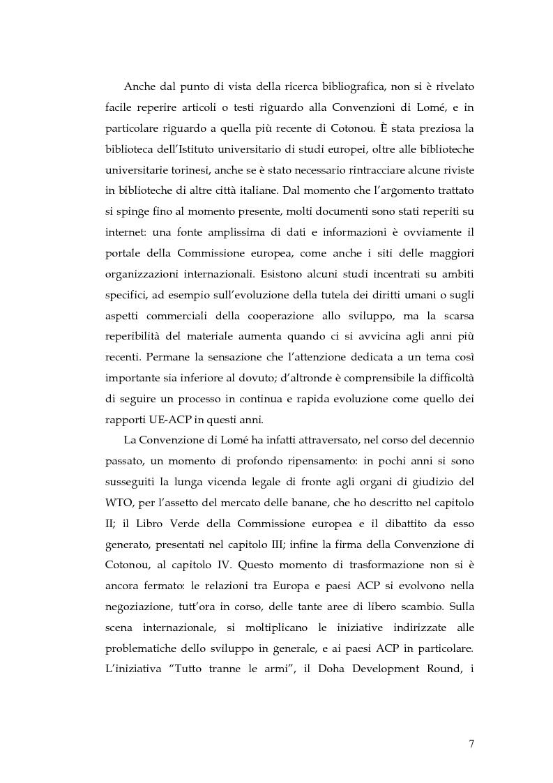 Anteprima della tesi: L'evoluzione della cooperazione giuridica UE-ACP da Lomé a Cotonou, Pagina 3