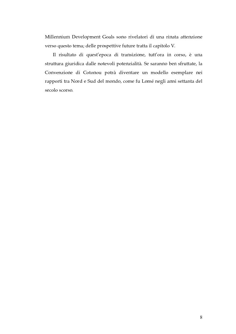 Anteprima della tesi: L'evoluzione della cooperazione giuridica UE-ACP da Lomé a Cotonou, Pagina 4